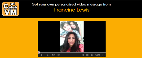 Get a personal video message from Francine lewis